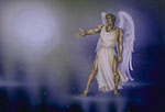 """The mighty Angel (who asks """"Who is worthy to open the scroll?"""")(REV. 5:2)"""