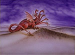 The dragon, released to gather the nations for battle (REV. 20:7-8)